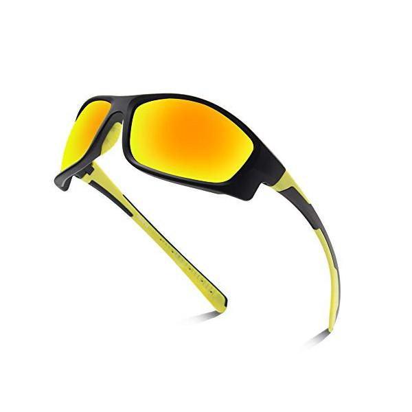 OULIQI Gafas de ciclismo polarizadas deportivas con protección UV para hombre y mujer, para actividades al aire libre como ci