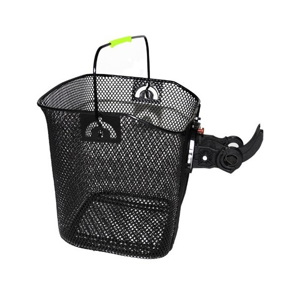 Durca Ertedis 801533 bolsa para bicicletas y cesta - bolsas para bicicletas y cestas  Negro, Acero, Canasta, Frente