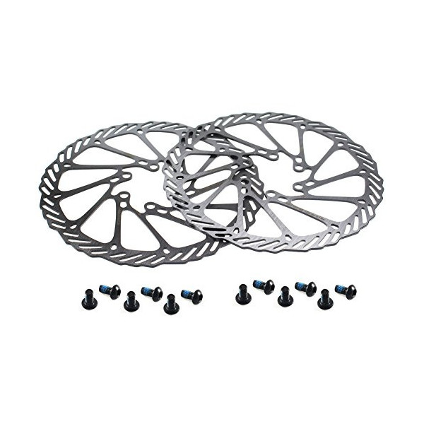 CYSKY Rotor de Freno de Disco de 160 mm 2 Paquetes Rotor de Freno de Disco de Bicicleta de Acero Inoxidable 6 Pernos para la