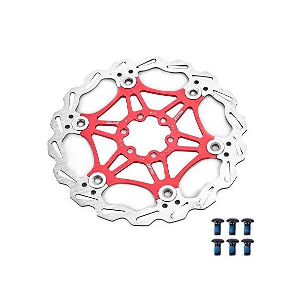 MEXITAL Rotor de Freno de Disco Flotante, 160 mm/180mm 6 Pernos, MTB Carretera Bicicleta Rotores Traseros Pernos Pastilla de