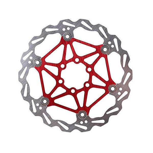 Rotor de freno de disco de bicicleta con tornillos, Disco de freno de bicicleta 160/180/203 mm Tipo de bicicleta de montaña D