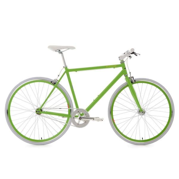 KS Cycling Bike Flip Flop RH 53cm, verde y blanco, 28, 150R