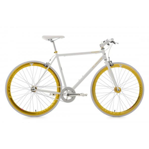 KS Cycling Bike pegado RH 59cm, blanco de oro, 28, 145r