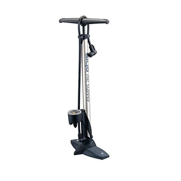 Bomba de aluminio de alta presión 160PSI Presta & Schrader para el suelo de la bicicleta con guía