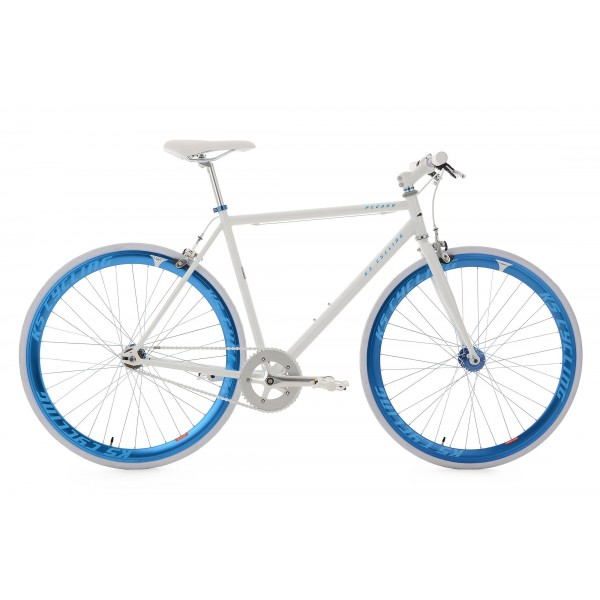 KS Cycling Bike pegado RH 59cm, color blanco y azul, 28, 142r