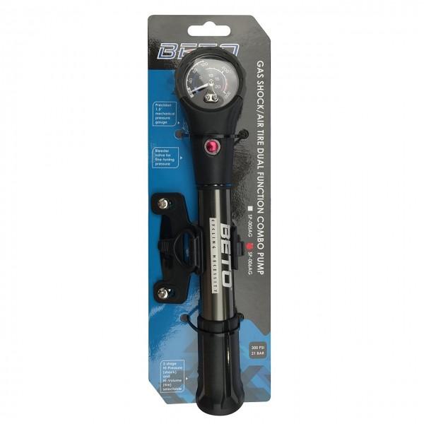 Beto Nuevo sp-006ag neumático y golpes CNC aleación de mini bomba de mano Presta y Schrader Dual