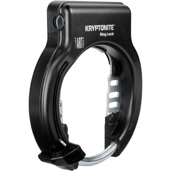 Kryptonite Ring Lock - Antirrobo de rueda bicicleta unisex para adulto, no retráctil, color negro