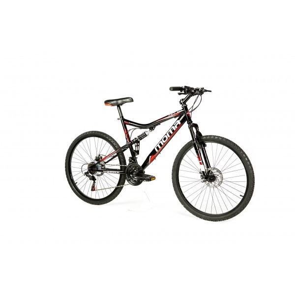 """Moma Bikes Bicicleta Montaña HIT 26"""" Alu, SHIMANO 24V, Doble Freno Disco, Susp. Delant."""