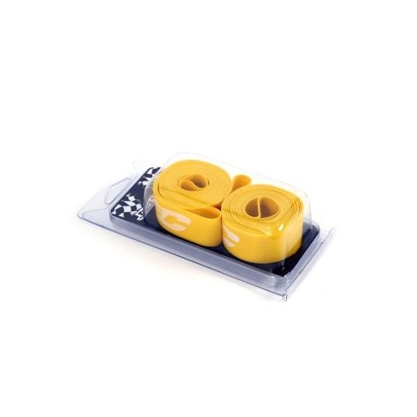 """MSC Bikes MSC 27.5"""" X 18 mm. Par - Fondo de llanta de ciclismo, color amarillo"""