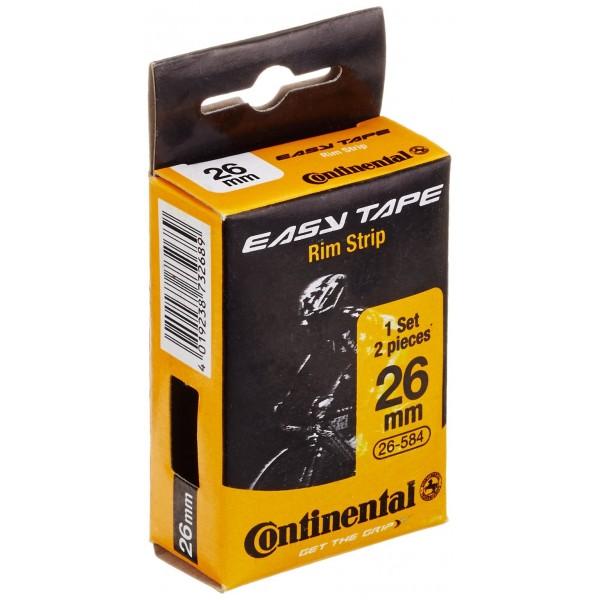 Continental Easy Tape Hock Impresión Llanta banda, negro, ONE SIZE