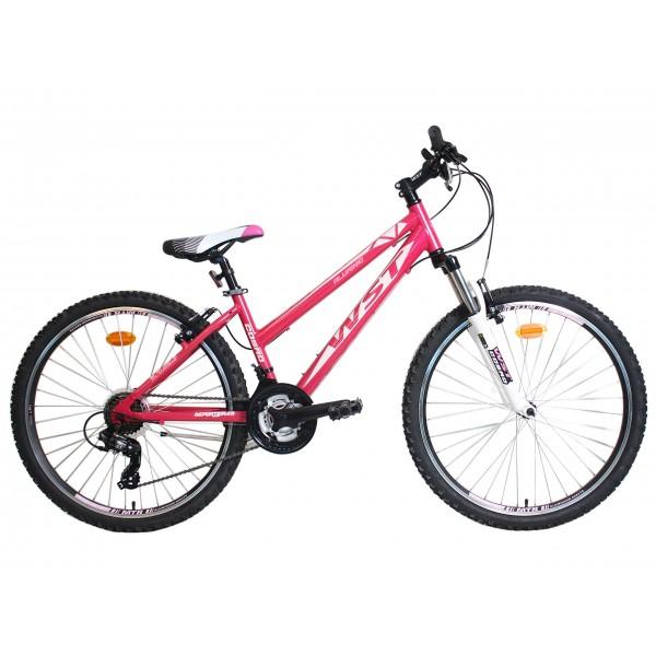 """WST Cosmo Bicicleta de Montaña, Mujer, Rosa, 26"""""""