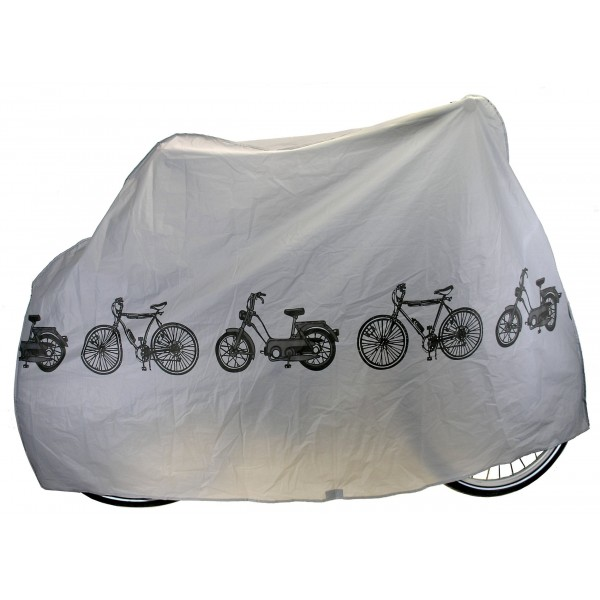M-Wave Peva Funda Cubre-Bicicleta, Unisex adulto, Gris, Única