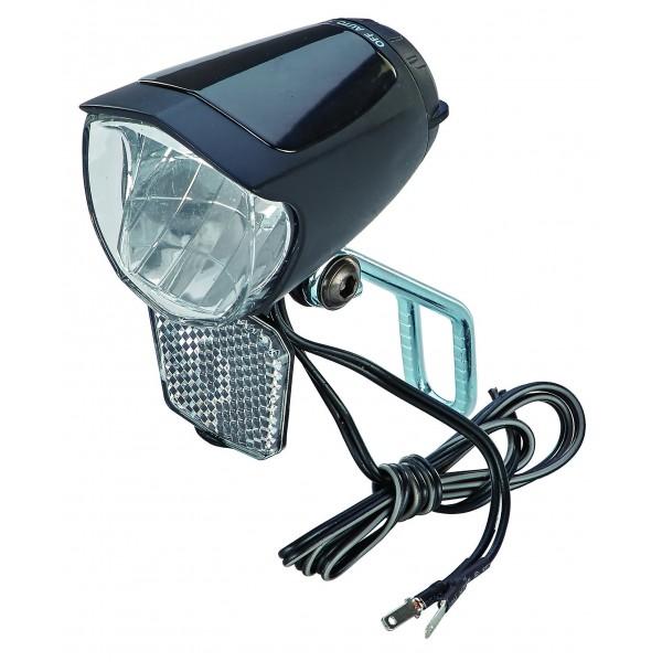 Prophete 70Lux, con un de encendido/apagado, con luz de posición y sensor automático, soporte para reflector y Nirosta extra