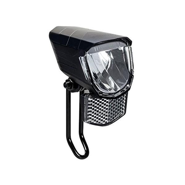 Fischer 45Lux dinamo de Faro LED, Negro, One size