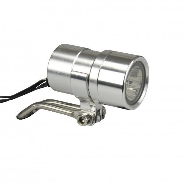 Fischer adultos dinamo LED–Faro 20Lux Luz de posición aluminio, plata, One size