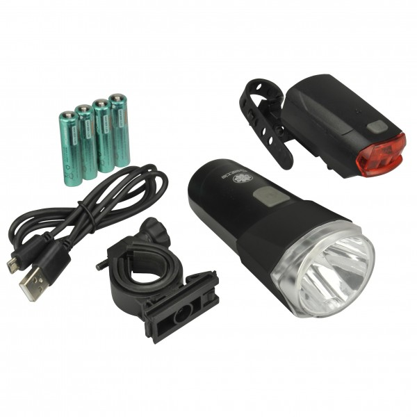 Fischer adultos–Juego de luces LED 30/15lux Power Charge, Negro, One size