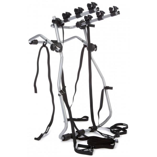 Green Valley 160621 Adventure - Soporte de bicicletas para maletero de coche  3 bicicletas