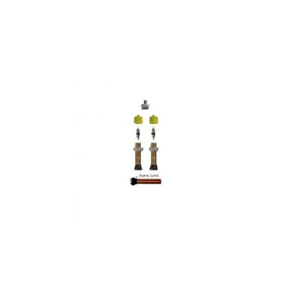 X-Sauce Kit 2 Válvulas Gruesas con Adaptador, Negro, Talla Única