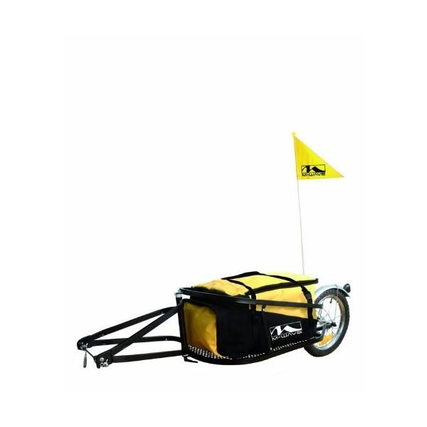 M-Wave Single 40 - Remolque para bicicletas, color amarillo