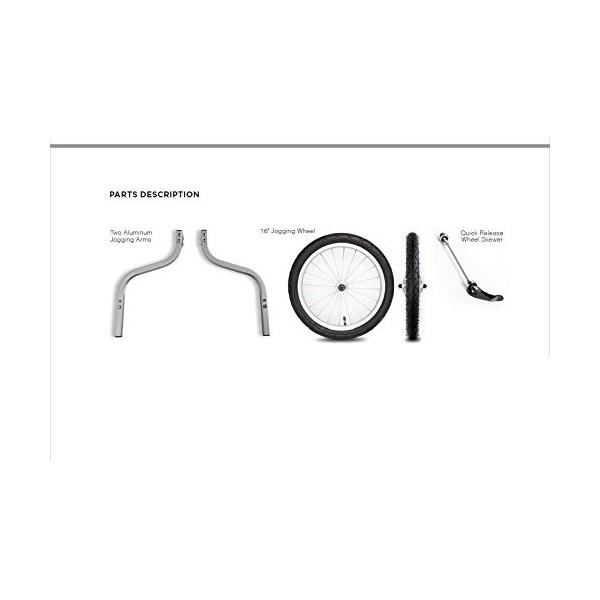 Thule Rueda para Remolque de bicicletas, aluminio, 16 pulgadas