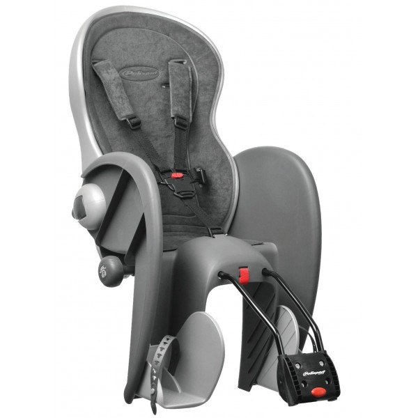 Polisport 67826 - Asiento de bicicleta para bebé  gris