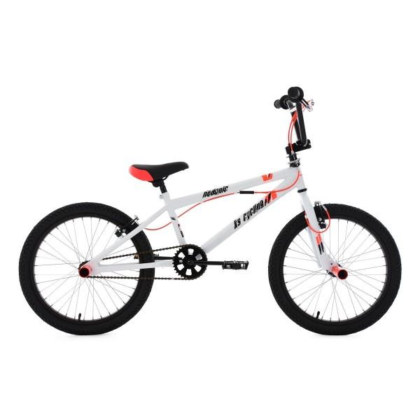 KS Cycling–Bicicleta BMX freestyle hedonic, color blanco de neonrot, 20, 622B