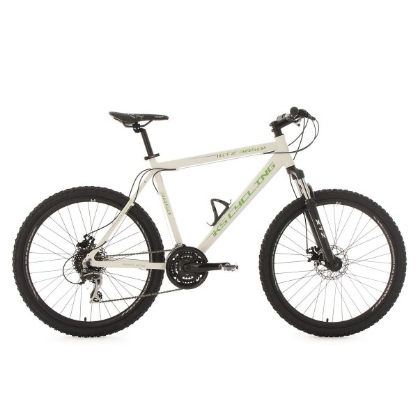KS Cycling Fahrrad Mountainbike Hardtail MTB gtz RH 51 cm , color blanco y verde, 26 pulgadas, 354 m