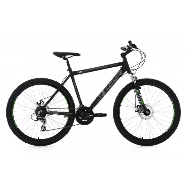 KS Cycling Hombre Mountain Bike MTB Xceed RH 49 cm bicicleta, Negro, 26