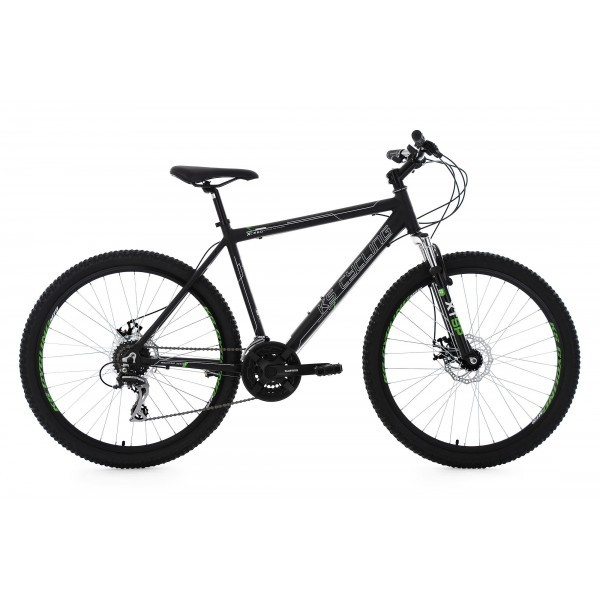 KS Cycling Hombre Mountain Bike MTB Xceed RH 49cm bicicleta, Negro, 26
