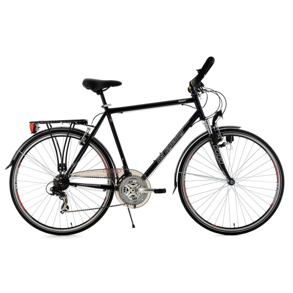 KS Cycling 100T - Bicicleta para hombre, cuadro 53 cm, color negro