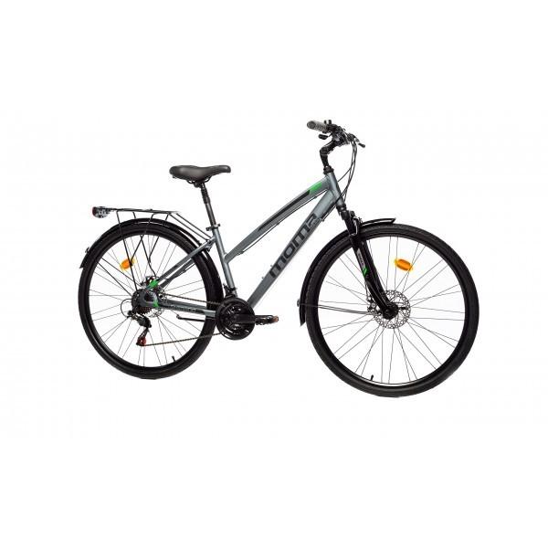 "Moma Bikes Bicicleta Trekking/Paseo TREKKING PRO W 28"", Alu, SHIMANO 21V, Susp. Delant.  Varias Tallas"