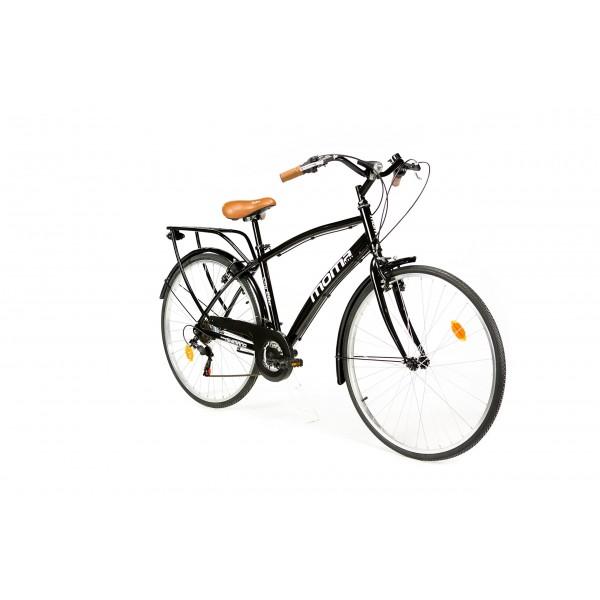 Moma Bikes Bicicleta Urbana/Paseo CITY28, Alu, SHIMANO 18V. Sillin Confort