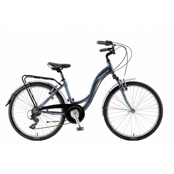 "Agece City CTB Florida 26 Bicicleta, Unisex Adulto, Gris Antracita, 17"""