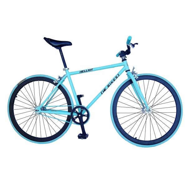 Helliot Bikes Fixie Tribeca H27 - Bicicleta urbana, color azul/turquesa, talla única