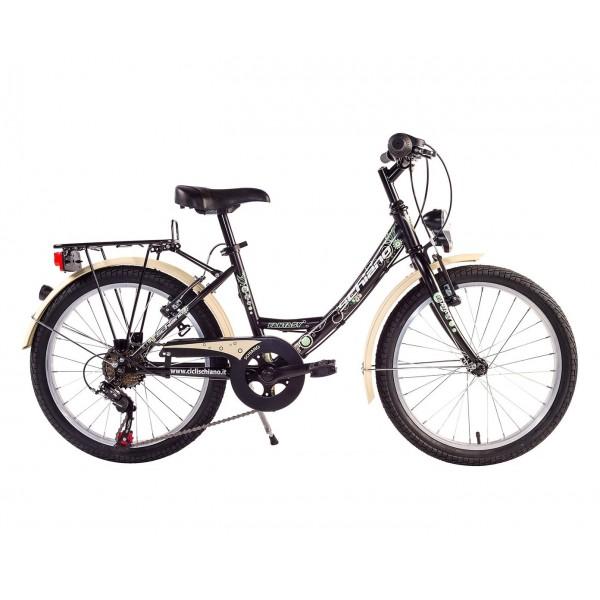 """SCH F.Lli Schiano Fantasy Shimano Bicicleta, Negro/Beige, 20"""""""