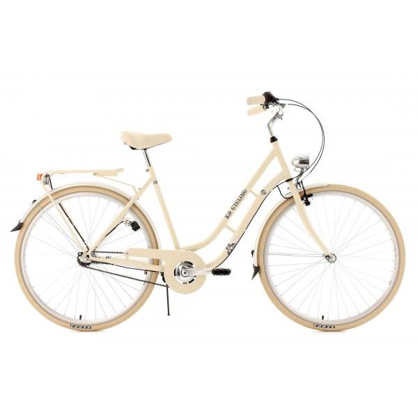 """KS Cycling Cityrad Casino 3 Gänge - Bicicleta de paseo, color beige, ruedas 28"""", cuadro 53 cm"""