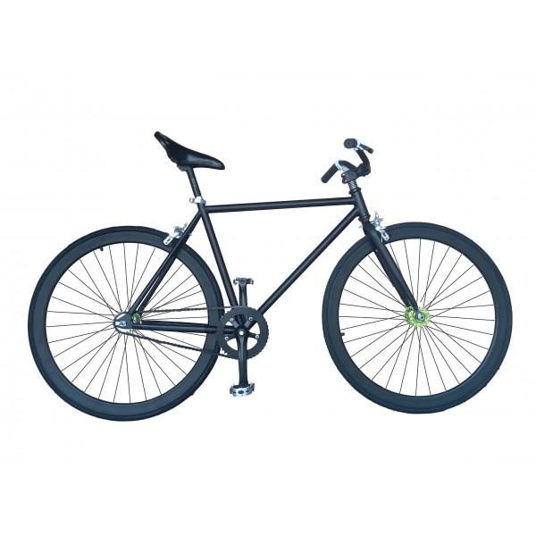 Helliot Bikes Fixie Tribeca H23 Bicicleta Urbana, Unisex Adulto, Negro, Estandar