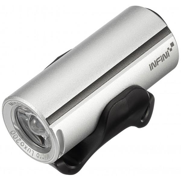 Infini Micro Luxo–Linterna de casco, Plata, 10x 4x 3cm
