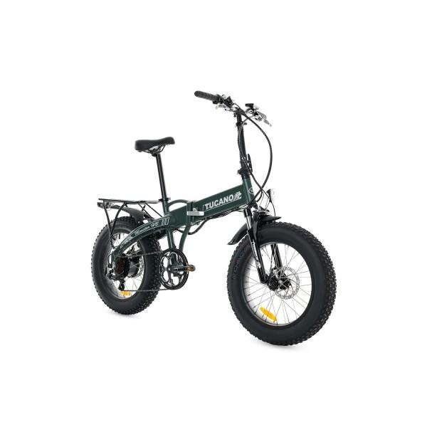 Tucano Bikes Monster HB Bicicleta Eléctrica Plegable, Verde  Mate , Talla Única