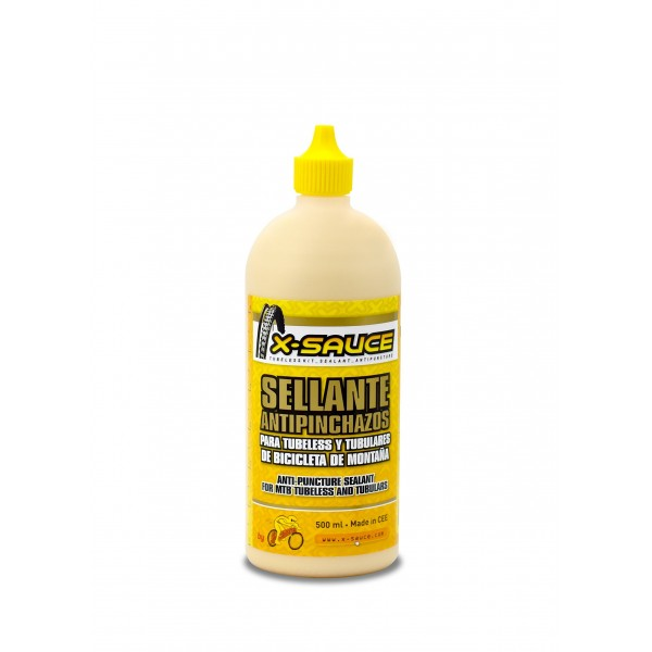 X-Sauce A8487325000120 Sellante Anti Pinchazos para Tubeless, Amarillo, 500ml