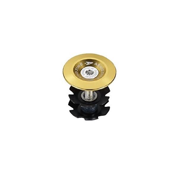 Aerozine Unisex anodizado Auriculares Cap, oro, 1/18Ruedas