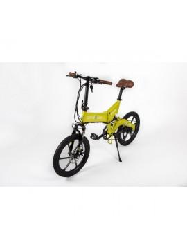 """Cityboard Cies Bicicleta Eléctrica, Unisex Adulto, Amarillo, 20"""""""
