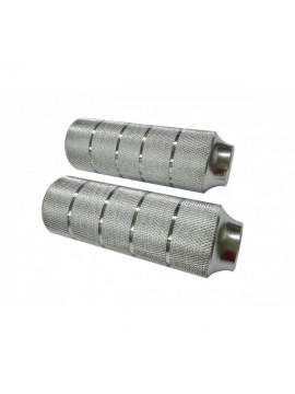 Point 29242000 - Tubos reposapiés para BMX  diámetro 10 mm , Color Plateado