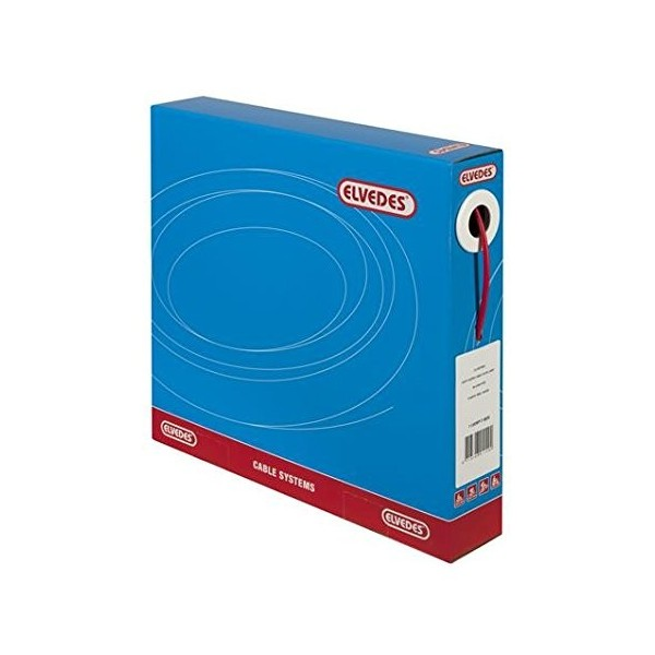 Elvedes cambio Cable exterior o4.2mm 30Meter en caja dispensadora, color rojo