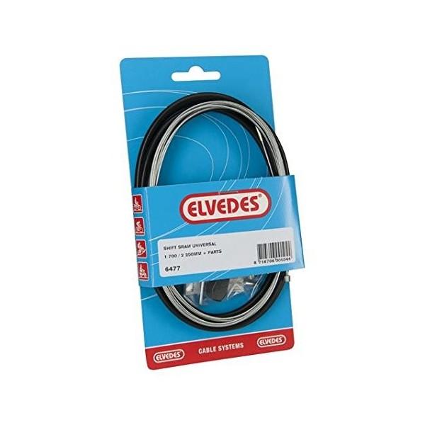 Elvedes Kit de cable cambio Sram Universal–Negro
