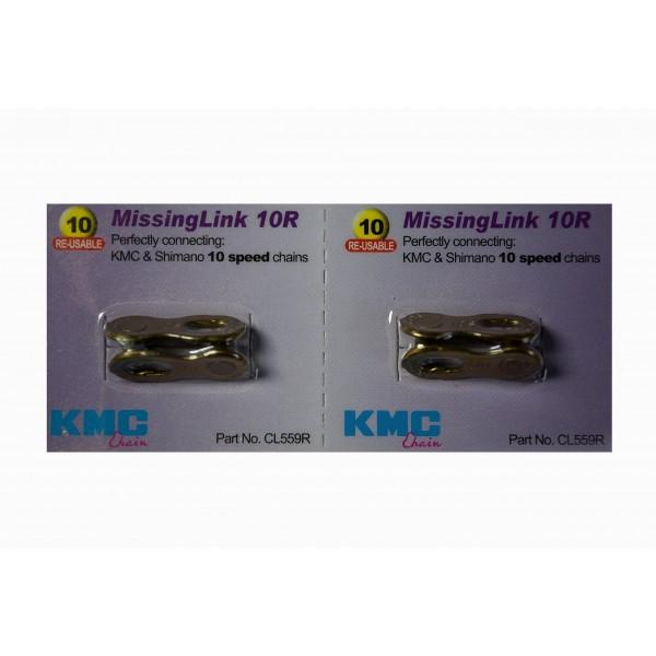 KMC 2 juegos de eslabones faltantes 10 velocidades CL559R Shimano dorado.