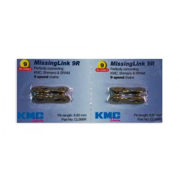 KMC Juego de 2 eslabones faltantes  9 velocidades, CL566R, Shimano y Sram dorado
