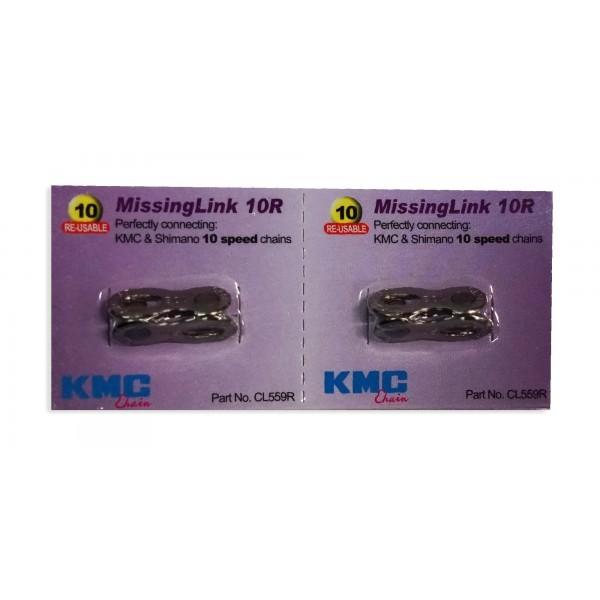 KMC 2 juegos de eslabones faltantes 10 velocidades CL559R Shimano, color plateado