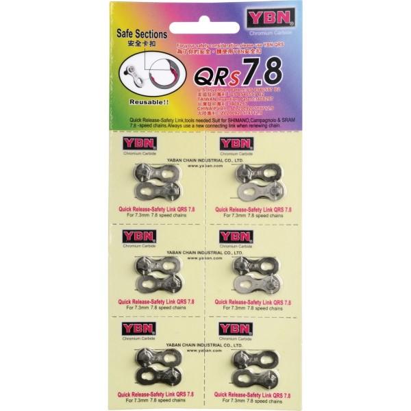 Yaban Chain QR8 Paquete con 6 Unidades de Eslabones Sueltos, Gris, 7-8 Velocidades