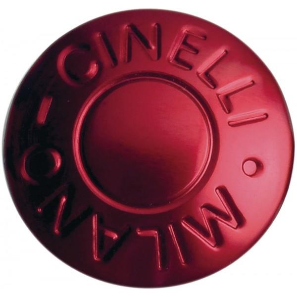 Cinelli Milano–Tapones de manillar, anodizado rojo